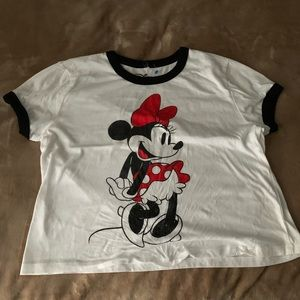Disney Minnie Mouse crop top tee